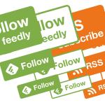 WordPress用にとRSSボタンとFeedlyのボタンを自作してみたので配布