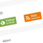 WordPress最初にやるべき各種設定!その1:サイドウィジェットにRSSとFeedlyのボタンを設置